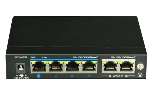 UTEPO UTP3GSW04TP60 - SWITCH POE FULL GIGABIT AF/AT/ 4 PUERTOS GE / 2 PUERTOS UPLINK GE/ 60W TOTALES/ MODO CCTV-Switches PoE-UTEPO-UGC182010-Bsai Seguridad & Controles
