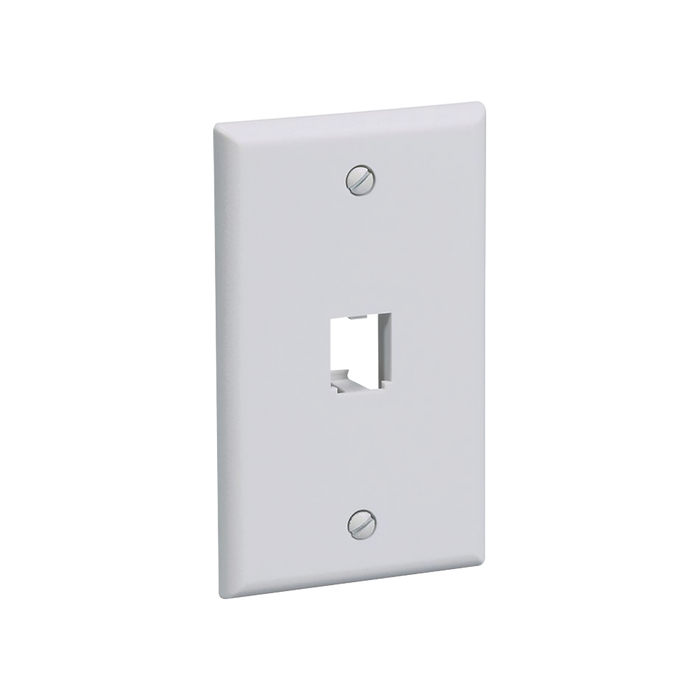 PLACA DE PARED VERTICAL CLASICA, SALIDA PARA 1 PUERTO MINI-COM, COLOR BLANCO MATE-Faceplates-PANDUIT-CFP1IW-Bsai Seguridad & Controles
