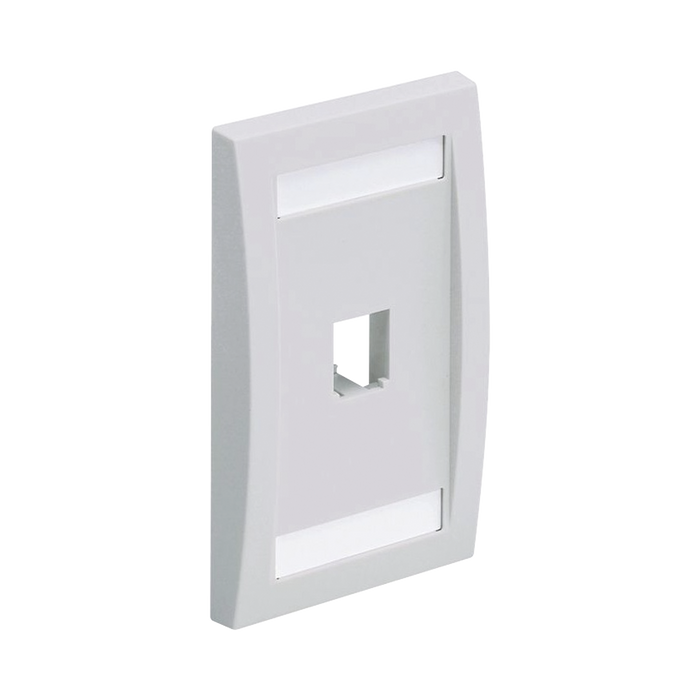 PLACA DE PARED VERTICAL EJECUTIVA, SALIDA PARA 1 PUERTO MINI-COM, CON ESPACIOS PARA ETIQUETAS, COLOR BLANCO-Faceplates-PANDUIT-CFPE1WHY-Bsai Seguridad & Controles