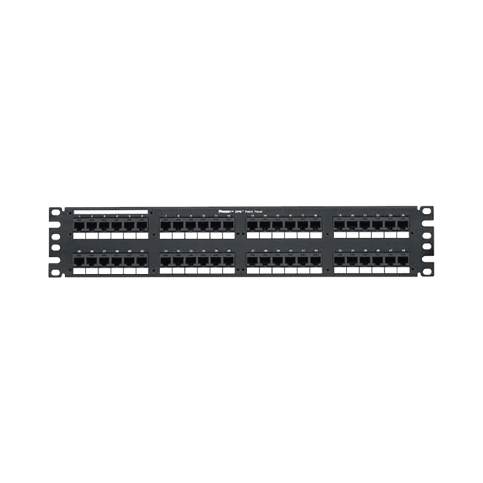 PANEL DE PARCHEO DE IMPACTO (110), PLANO, CATEGORIA 6, DE 48 PUERTOS, 2UR-Patch Panels-PANDUIT-DP48688TGY-Bsai Seguridad & Controles