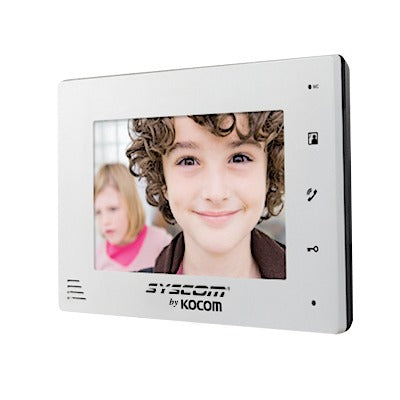 MONITOR ADICIONAL EN COLOR BLANCO-Video Porteros-KOCOM-KCV-D372-MW-Bsai Seguridad & Controles