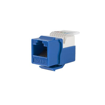 MODULO JACK KEYSTONE CAT5E SIN HERRAMIENTA (TOOLLESS) PARA FACEPLATE - COLOR AZUL-Jacks / Plugs-LINKEDPRO-LP-KJ-516-BU-Bsai Seguridad & Controles