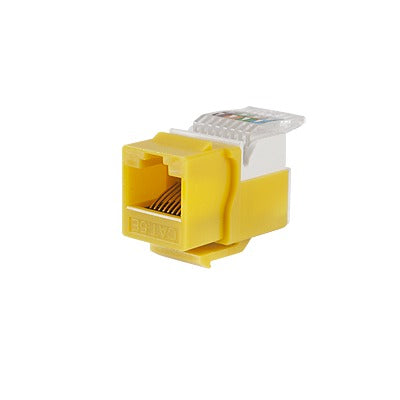 MODULO JACK KEYSTONE CAT5E SIN HERRAMIENTA (TOOLLESS) PARA FACEPLATE - COLOR AMARILLO-Jacks / Plugs-LINKEDPRO-LP-KJ-516-YE-Bsai Seguridad & Controles