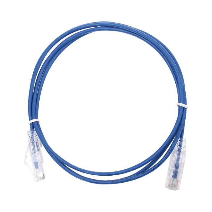 CABLE DE PARCHEO SLIM UTP CAT6 - 1.5 M AZUL DIAMETRO REDUCIDO (28 AWG)-Patch Cords-LINKEDPRO-LP-UT6-150-BU28-Bsai Seguridad & Controles