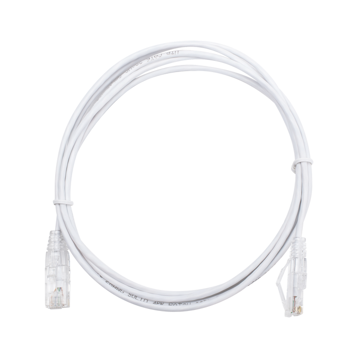 CABLE DE PARCHEO SLIM UTP CAT6 - 2 M BLANCO DIAMETRO REDUCIDO (28 AWG)-Patch Cords-LINKEDPRO-LP-UT6-200-WH28-Bsai Seguridad & Controles