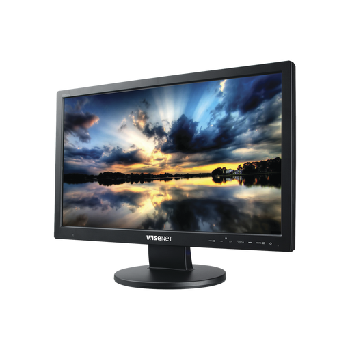 "MONITOR PROFESIONAL FULL HD LED DE 22"" IDEAL PARA VIDEOVIGILANCIA / USO 24/7 / RESOLUCIÓN 1920X1080 / ENTRADAS DE VIDEO HDMI, DVI, VGA Y BNC-Monitores-HANWHA TECHWIN WISENET-SMT-2233-Bsai Seguridad & Controles"