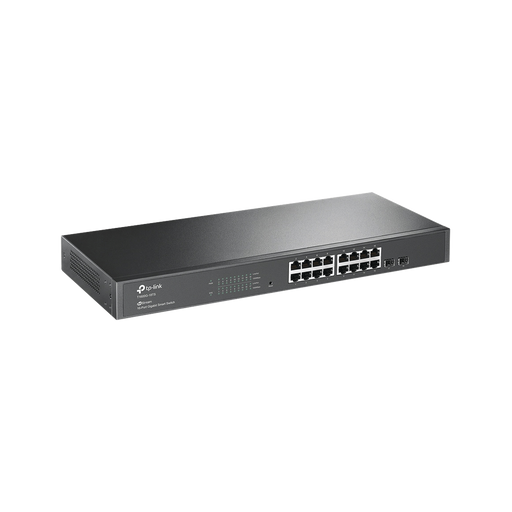 SMART SWITCH ADMINISTRABLE CAPA 2, 16 PUERTOS 10/100/1000 MBPS + 2 PUERTOS SFP-Switches-TP-LINK-T1600G-18TS-Bsai Seguridad & Controles