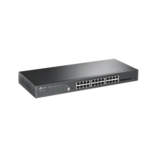 SMART SWITCH JETSTREAM APILABLE GIGABIT ADMINISTRABLE CAPA 2, 24 PUERTOS 10/100/1000 MBPS + 4 PUERTOS SFP+-Switches-TP-LINK-T1700G-28TQ-Bsai Seguridad & Controles