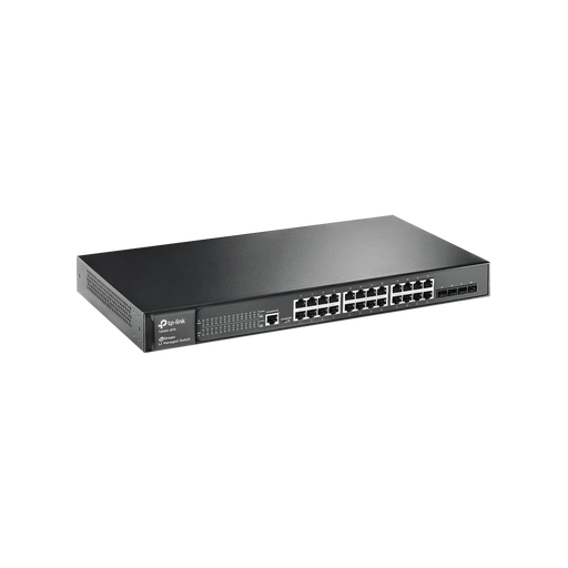 SWITCH JETSTREAM GIGABIT ADMINISTRABLE CAPA 2, 24 PUERTOS 10/100/1000 MBPS + 4 PUERTOS SFP-Switches-TP-LINK-T2600G-28TS-Bsai Seguridad & Controles