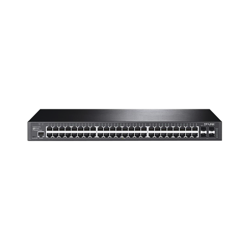 SWITCH JETSTREAM GIGABIT ADMINISTRABLE CAPA 2, 48 PUERTOS 10/100/1000 MBPS + 4 PUERTOS SFP-Switches-TP-LINK-T2600G-52TS-Bsai Seguridad & Controles
