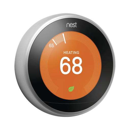 NEST - TERMOSTATO INTELIGENTE - PLATEADO, INTEGRABLE A SISTEMAS LUTRON, CASETA WIRELESS, RA2 SELECT, RADIORA2-Casa Inteligente-GOOGLE-T3007MX-Bsai Seguridad & Controles