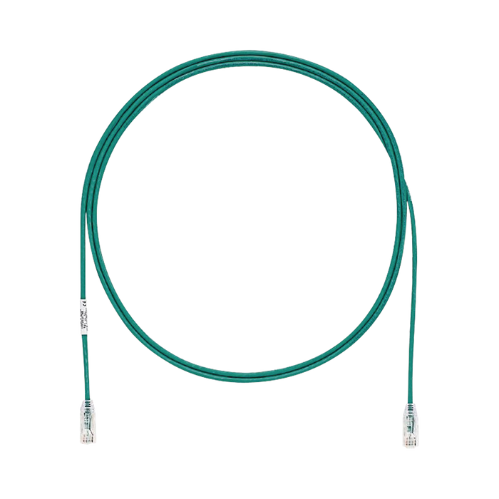 CABLE DE PARCHEO TX6, UTP CAT6, DIAMETRO REDUCIDO (28AWG), COLOR VERDE, 7FT-Patch Cords-PANDUIT-UTP28SP7GR-Bsai Seguridad & Controles
