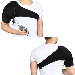 CREATRILL Shoulder Heating Pad - Temperature Free Adjustable Heated Brace Support Wrap