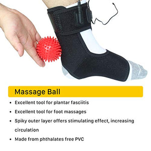 REIFUT Heated Achilles Tendonitis / Plantar Fasciitis Foot Ankle Wrap, Pad for Moist Heat Therapy