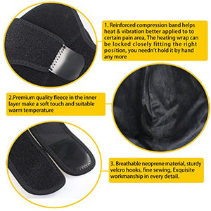 CREATRILL Massaging Heated Shoulder Wrap, Heating Pad for Rotator Cuff / Frozen Shoulder