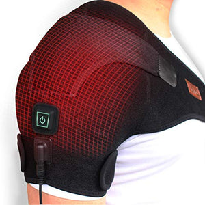 CREATRILL Heated Shoulder Wrap, 3 Heat Settings, Heating Pad Support Brace for Rotator Cuff