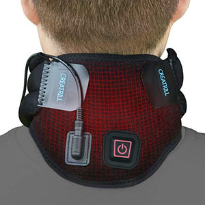 Creatrill Heated Neck Brace for Neck Pain or Stiffness Relief, For Moist Heat Therapy