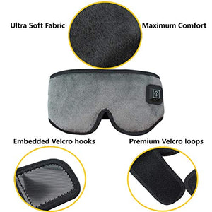 CREATRILL X-Large Heated Eye / Sinus Mask, USB Heating Compress Pad