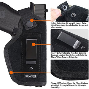 Creatrill Suede Leather Inside The Waistband Holster Gun Concealed Carry IWB Holster