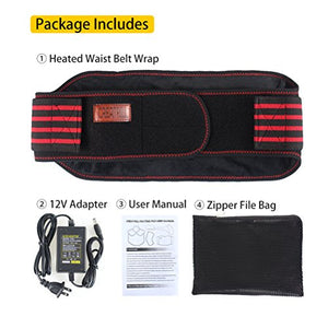 Creatrill Heated Waist Belt Wrap Back Cramps Abdominal Arthritic Stomach Pain Relief