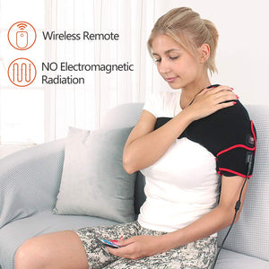 Shoulder Heating Pad with Remote Control, Heated Brace Wrap Support W/Auto Shut Off, Moist Heat Therapy for Injury Rotator Cuff Pain Frozen Shoulder Dislocation