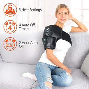 Shoulder Heating Pad w/Remote Control & Rechargeable 7.4V Heat for Joint Tendon Muscle Injury Arthritis