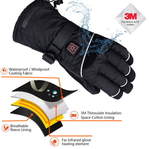 CREATRILL Heated Gloves w/Rechargeable 7.4V Batteries for Men and Women Cycling Motorcycle Hiking Skiing Hunting Fishing, Winter Hand Warmer Relief Arthritis Reynaud's