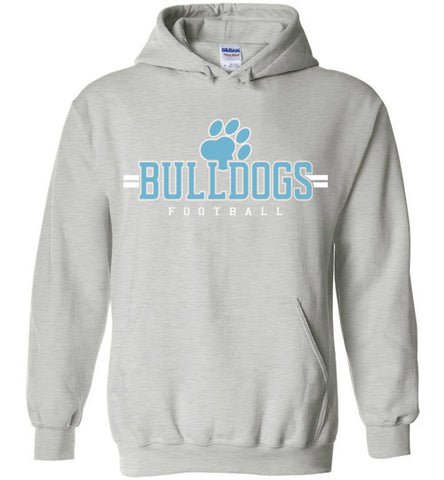 Bulldogs Football Heavy Blend Hoodie