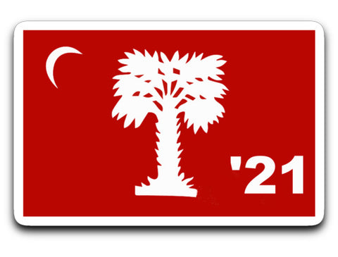 "Class of 2021 Big Red Sticker 4"" X 3"""