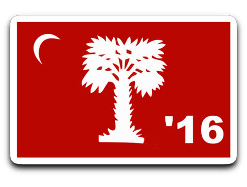 "Class of 2016 Big Red Sticker 4"" X 3"" Sticker"