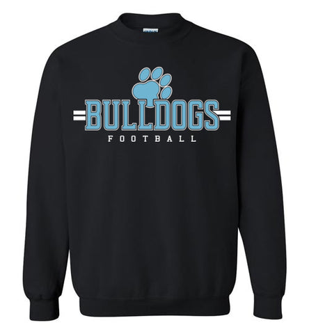 Bulldogs Football Crewneck Sweatshirt