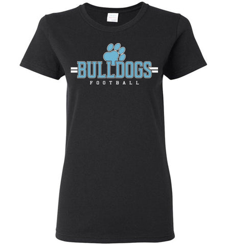 Bulldogs Football Ladies Short Sleeve Shirts