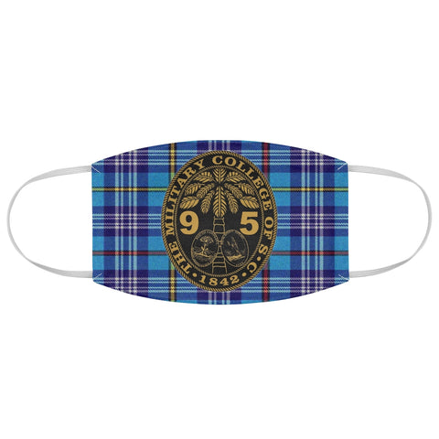 Class of 1995 Ring Bezel Tartan design Fabric Face Mask