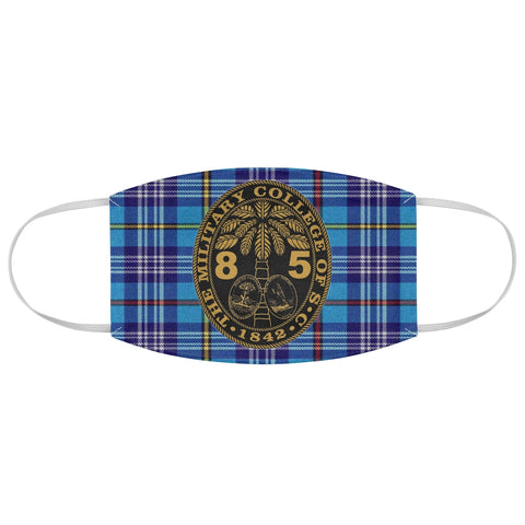 Class of 1985 Ring Bezel Tartan design Fabric Face Mask
