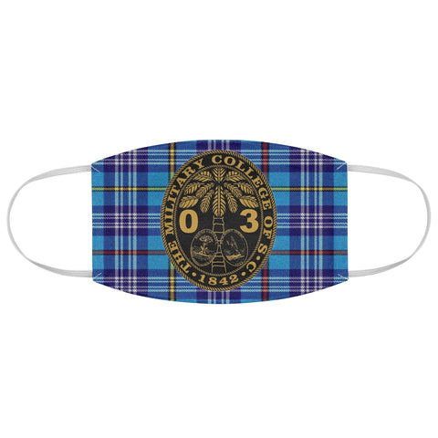 Class of 2003 Ring Bezel Tartan design Fabric Face Mask