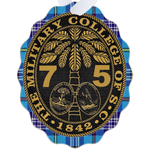 Class of 1975 Ring Bezel Tartan Metal Ornament