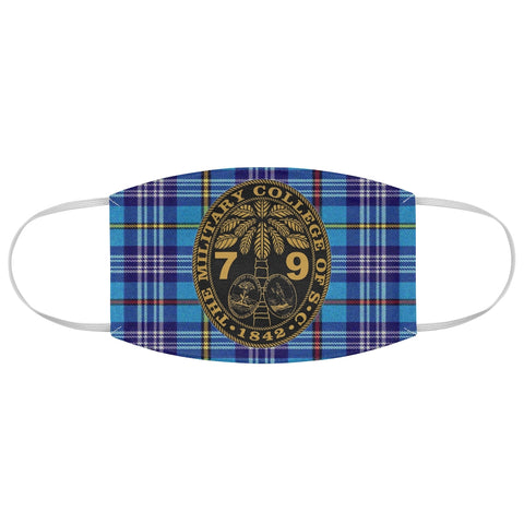 Class of 1979 Ring Bezel Tartan design Fabric Face Mask