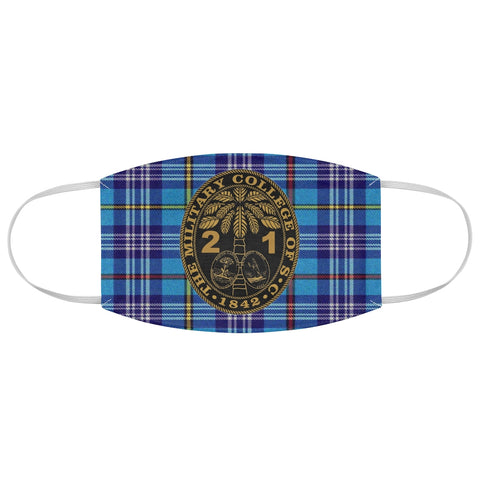 Class of 2021 Ring Bezel Tartan design Fabric Face Mask