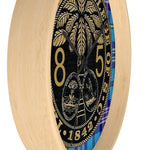 Class of 1985 Citadel Ring Bezel Tartan Wall clock