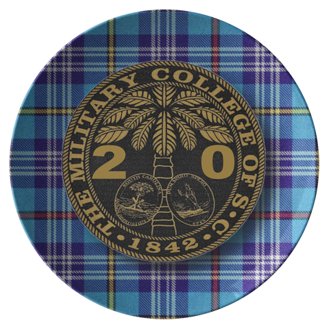 "Class of 2020 Ring Bezel Citadel Tartan Design 10"" Dinner Plate"