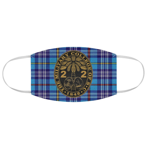 Class of 2022 Ring Bezel Tartan design Fabric Face Mask