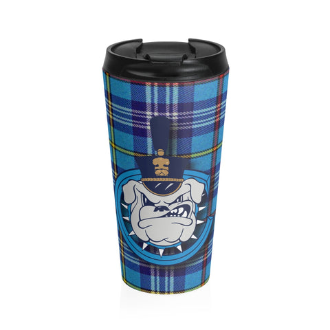 Spike with Citadel Tartan Stainless Steel Travel Mug