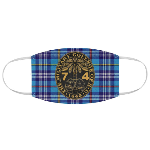 Class of 1974 Ring Bezel Tartan design Fabric Face Mask