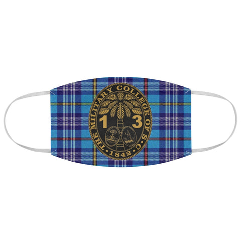 Class of 2013 Ring Bezel Tartan design Fabric Face Mask