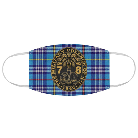 Class of 1978 Ring Bezel Tartan design Fabric Face Mask