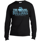 The Citadel Bulldogs Football  Long Sleeve Made in the US T-Shirt