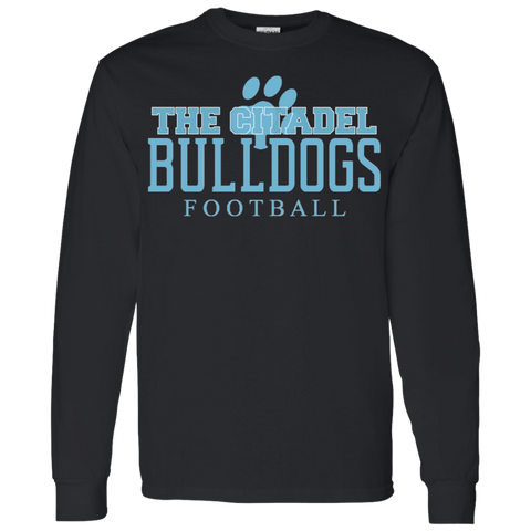 The Citadel Bulldogs Football  LS T-Shirt 5.3 oz.