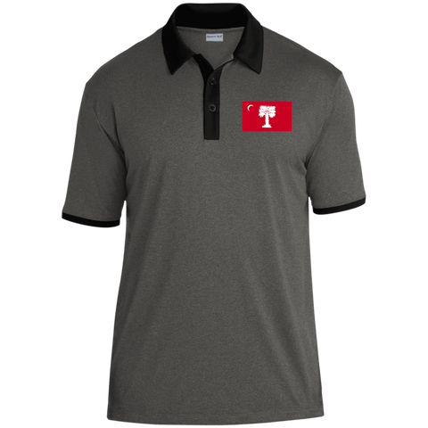 Big Red  Heather Contender Contrast Polo