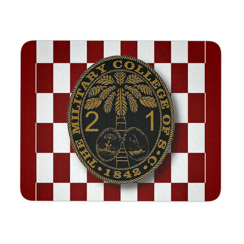 Class of 2021 Ring Bezel with Checkerboard Background Mouse Pad