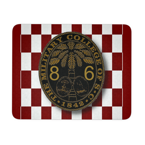Class of 1986 Ring Bezel with Checkerboard Background Mouse Pad
